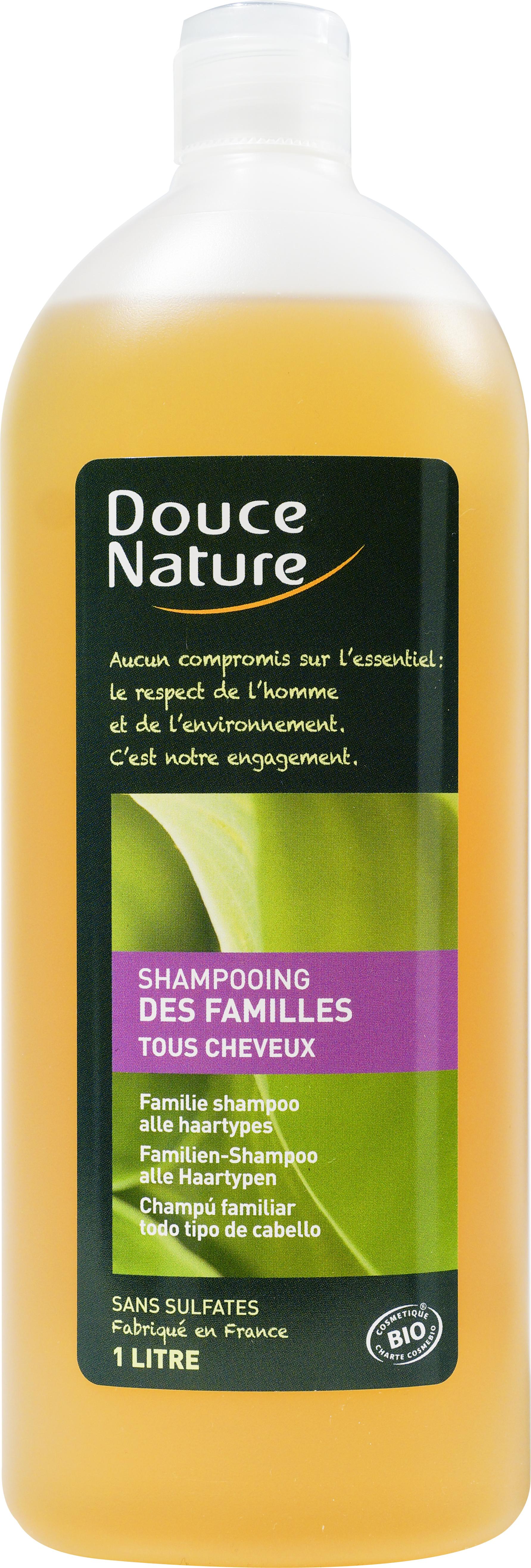 Shampooing des familles BIO tous cheveux, Douce Nature (1 L)