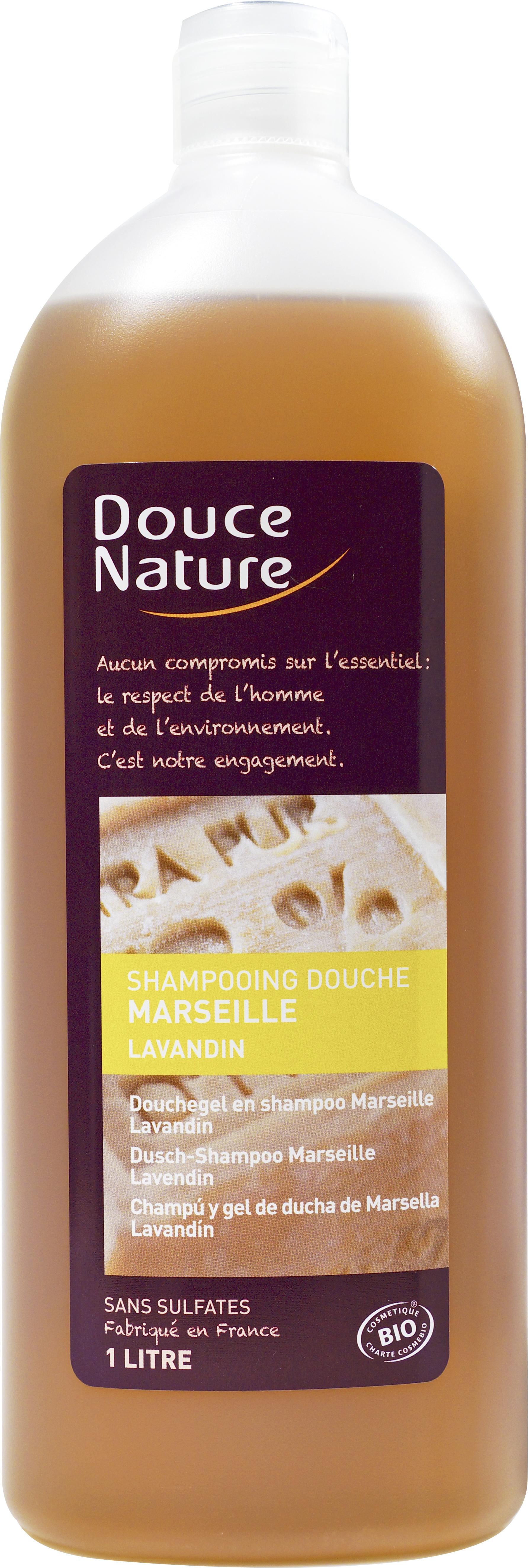 Shampooing-douche de Marseille Lavandin, Douce Nature (1 L)