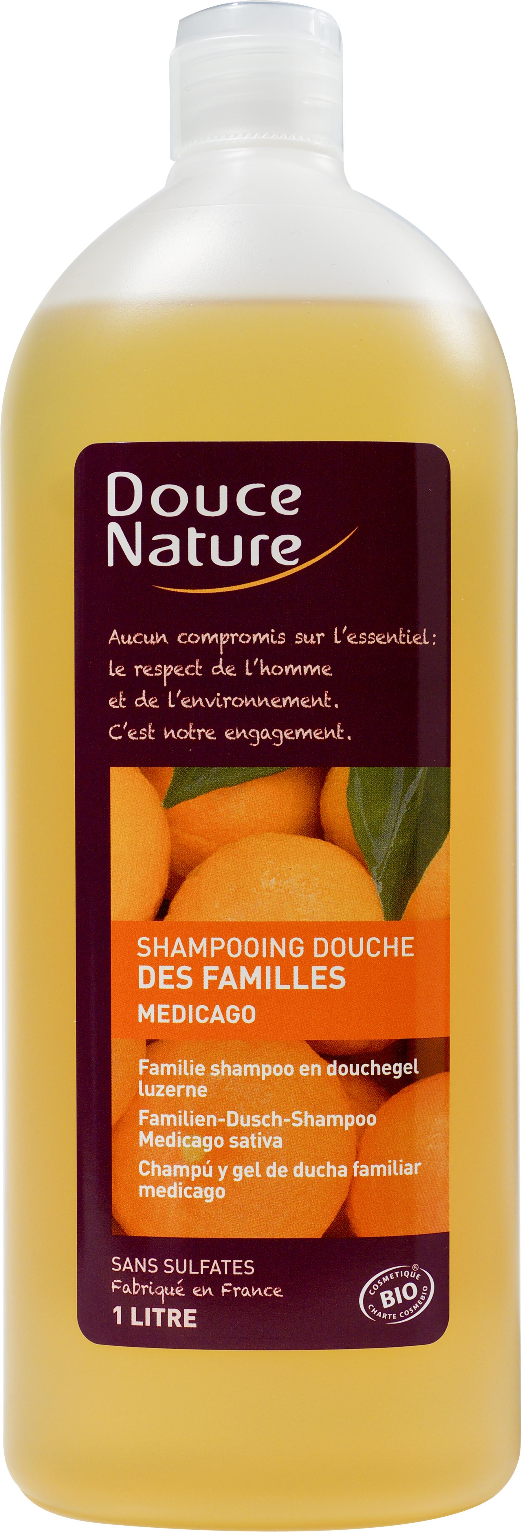 Shampooing-douche des familles Medicalgo, Douce Nature (1 L)