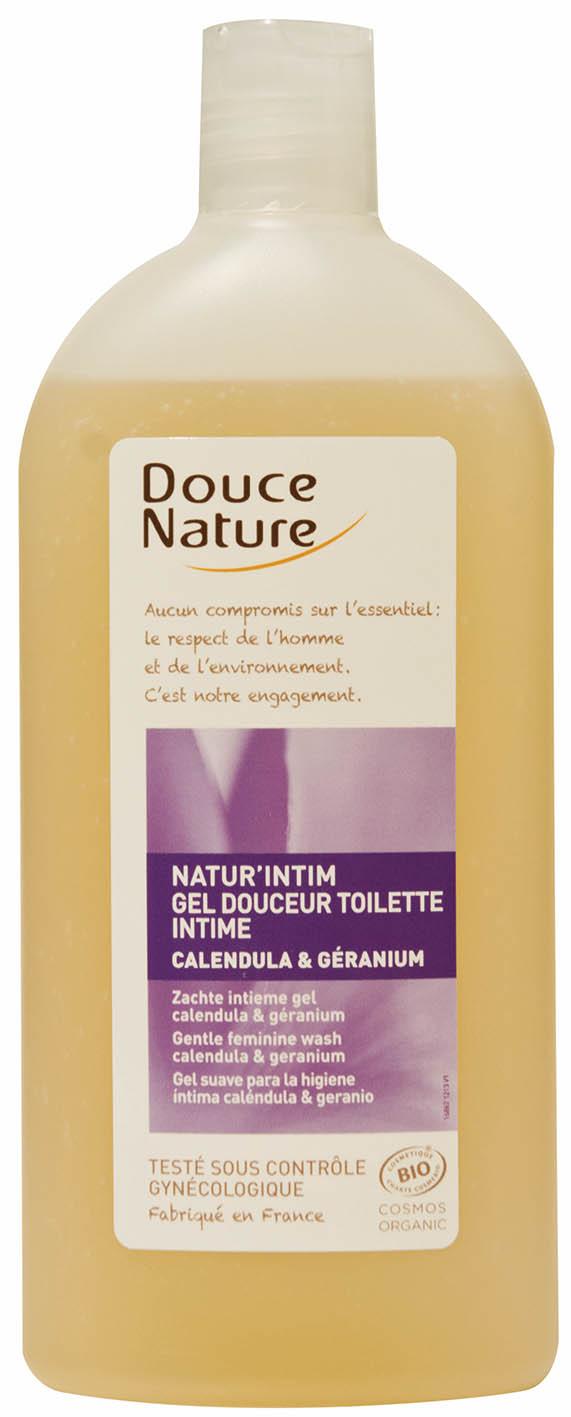 Gel douceur toilette intime Calendula et Géranium, Douce Nature (400 ml)