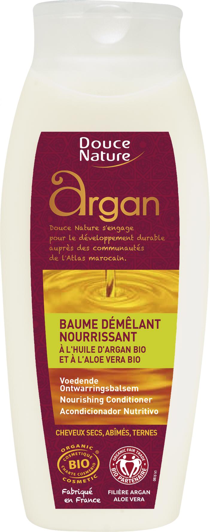 Baume démêlant à l'huile d'argan, Douce Nature (250 ml)