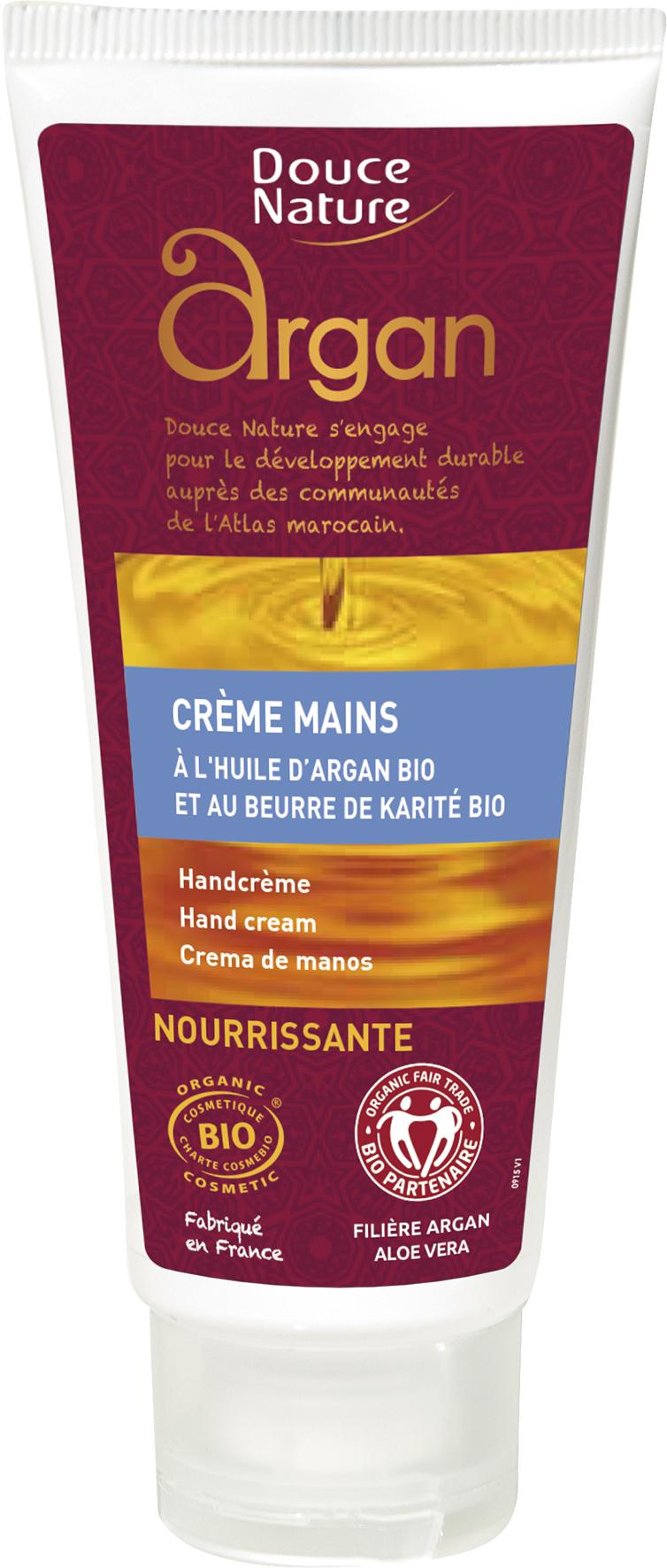 Crème pour les mains à l'huile d'argan, Douce Nature (60 ml)