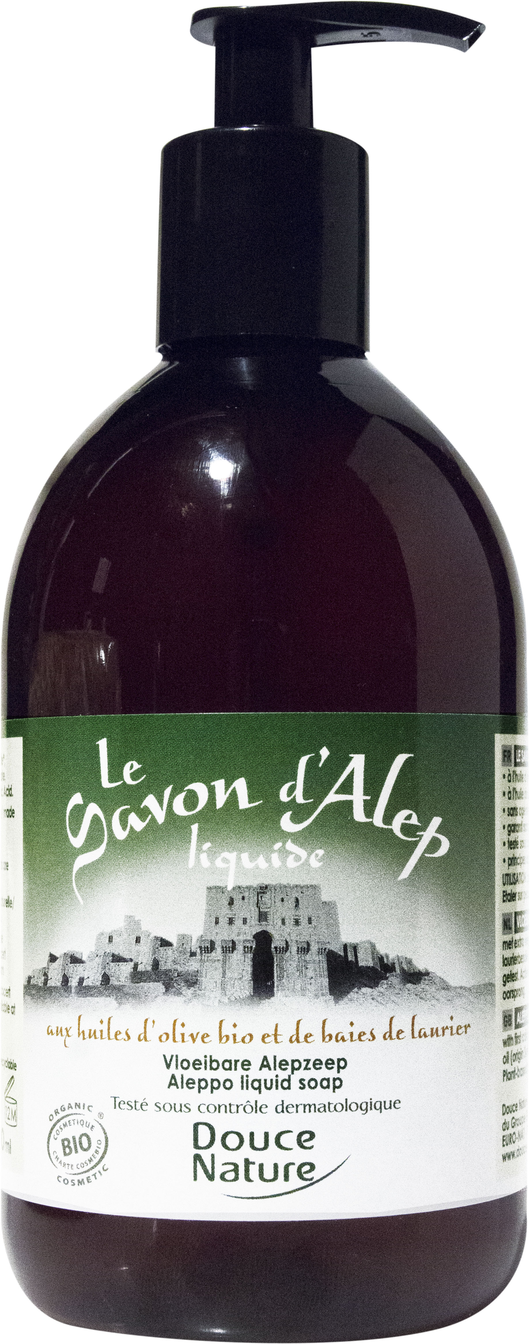Savon d'Alep liquide, Douce Nature (500 ml)
