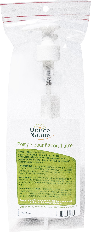 Pompe pour flacon 1 litre, Douce Nature
