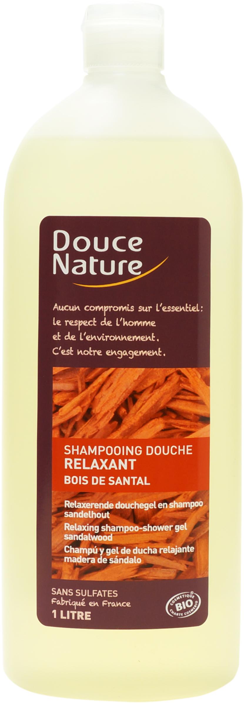 Shampooing-douche Bois de Santal relaxant, Douce Nature (1 L)