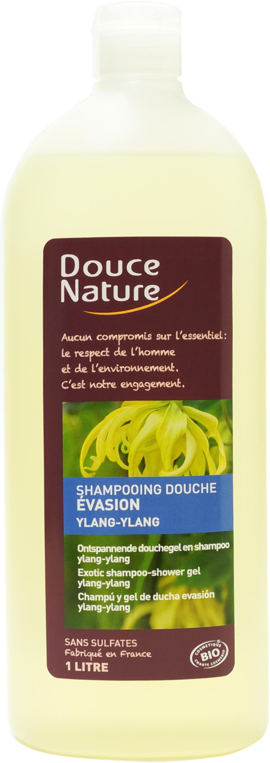 Shampooing-douche évasion Ylang, Douce Nature (1 L)