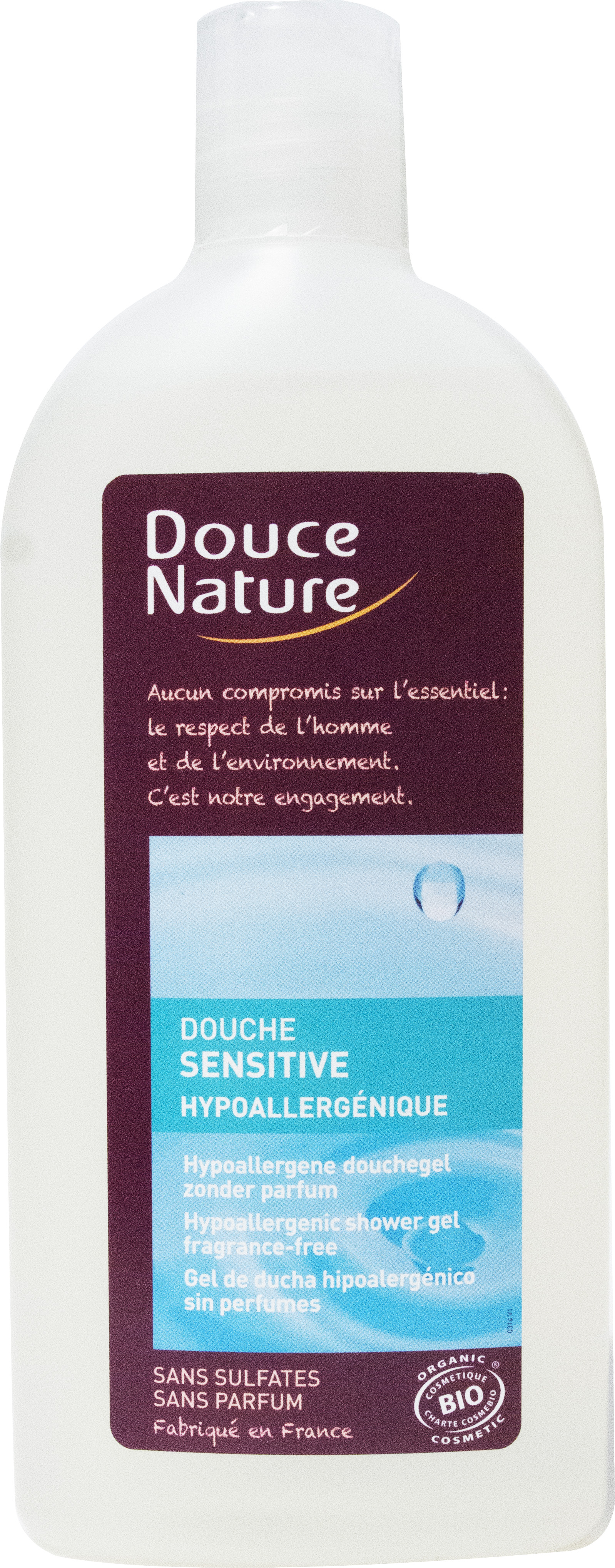 Douche Sensitive Hypoallergénique, Douce Nature (300 ml)