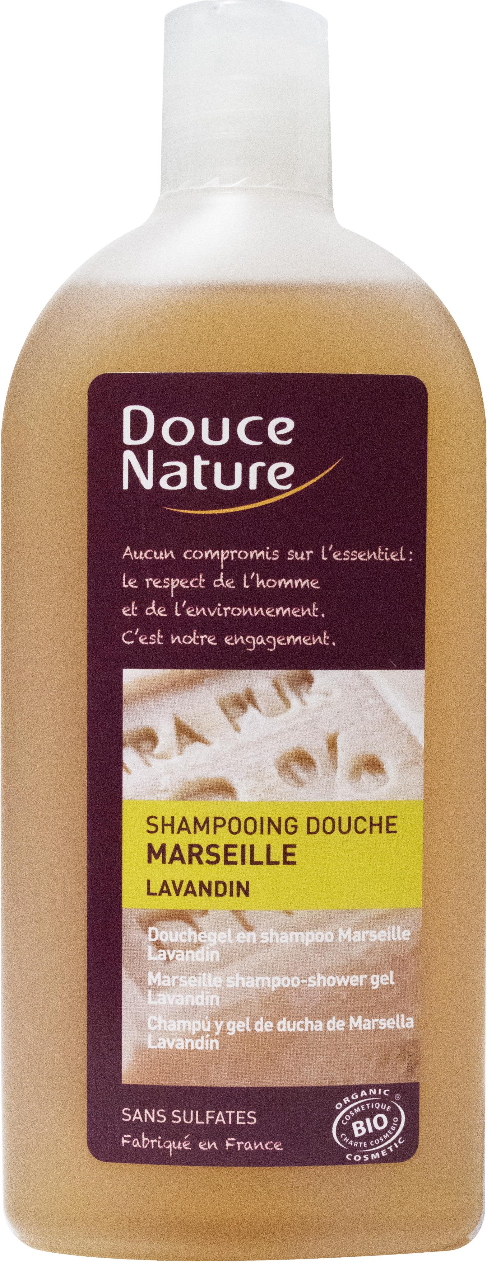 Shampooing-douche de Marseille Lavandin, Douce Nature (300 ml)