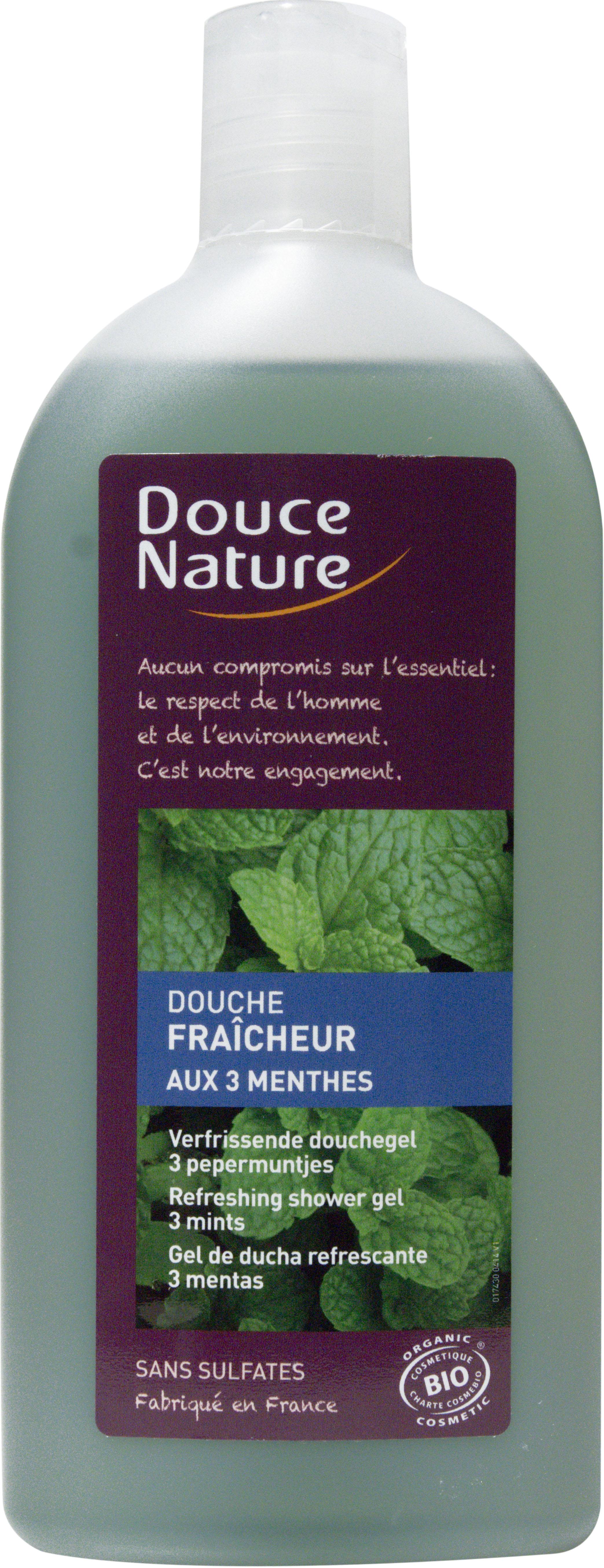 Douche fraicheur aux 3 menthes, Douce Nature (300 ml)