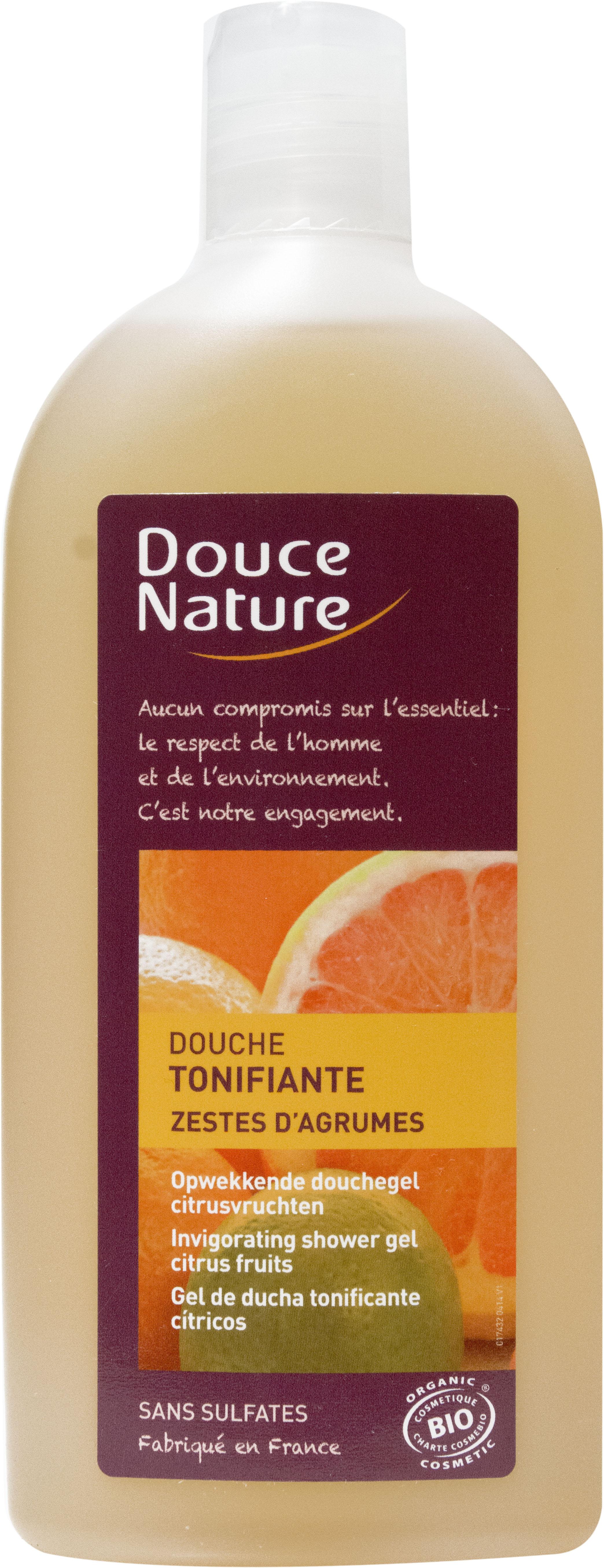 Douche Tonifiante aux zestes d'agrumes, Douce Nature (300 ml)
