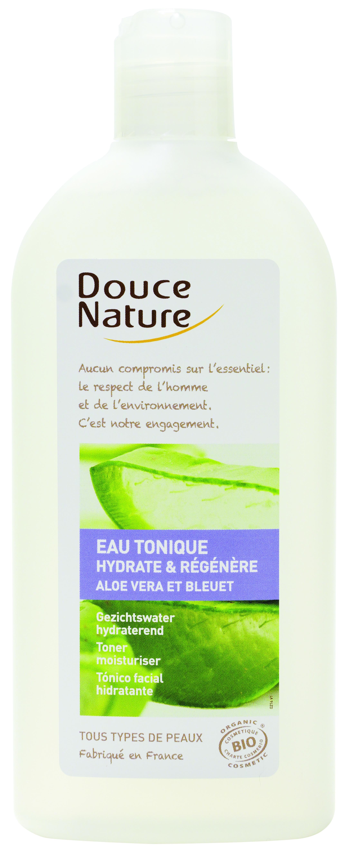 Eau tonique Aloé Vera et Bleuet, Douce Nature (300 ml)