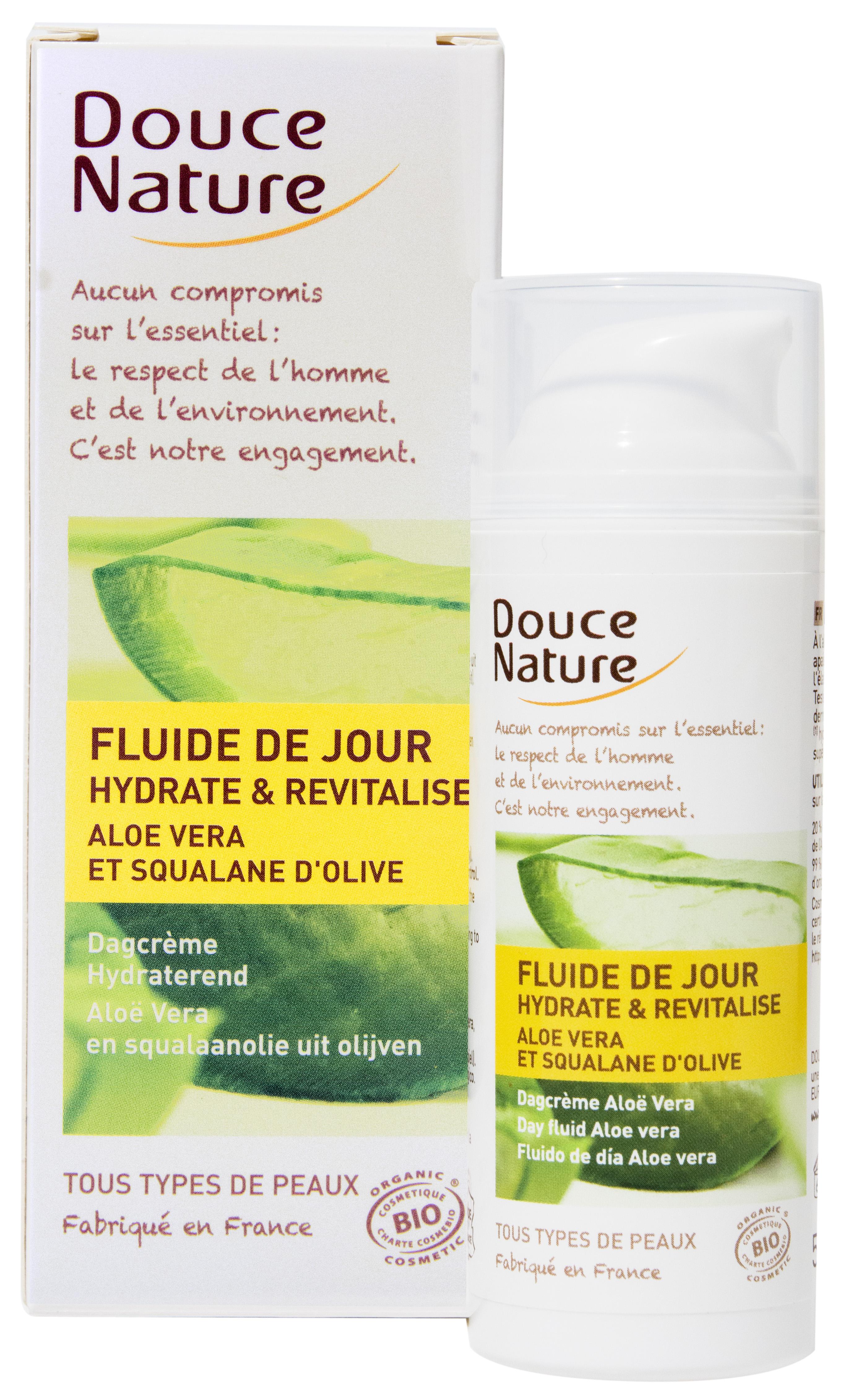 Fluide de jour Aloé Vera et Squalane d'olive, Douce Nature (50 ml)