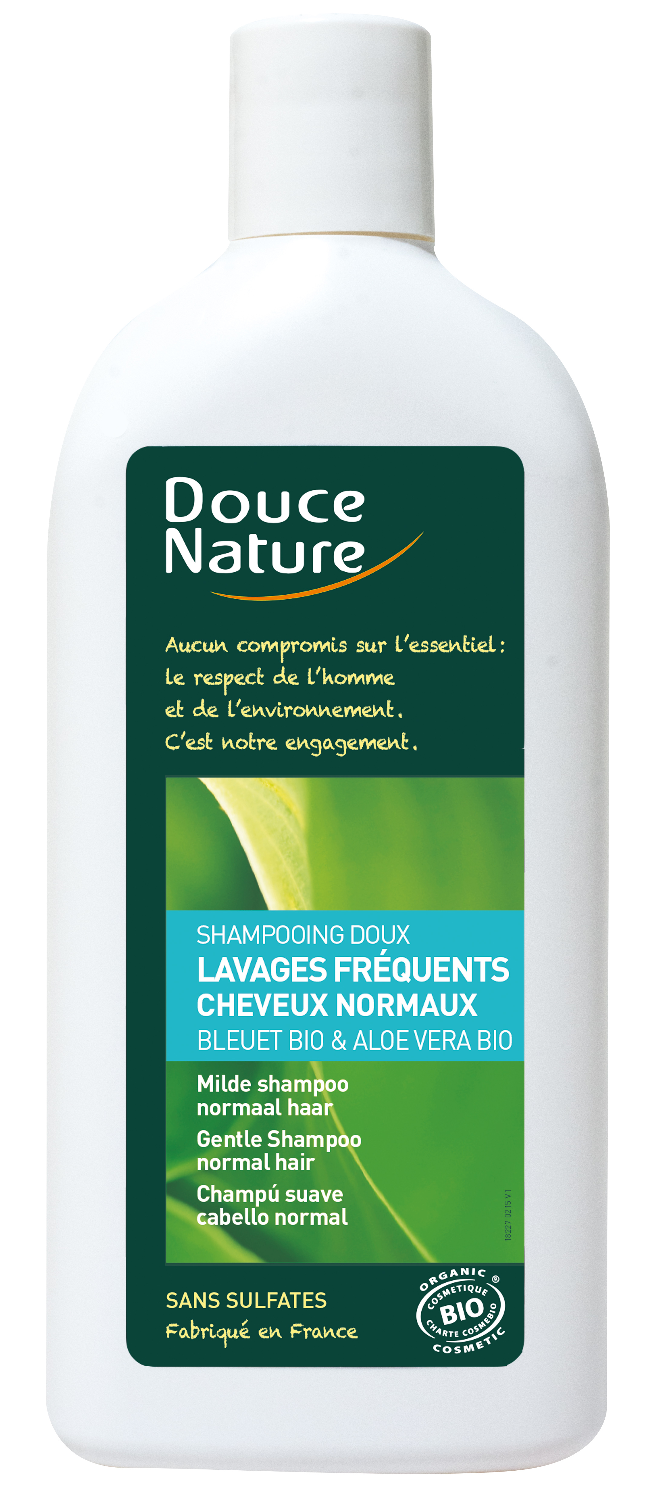 Shampooing doux cheveux normaux, Douce Nature (300 ml)