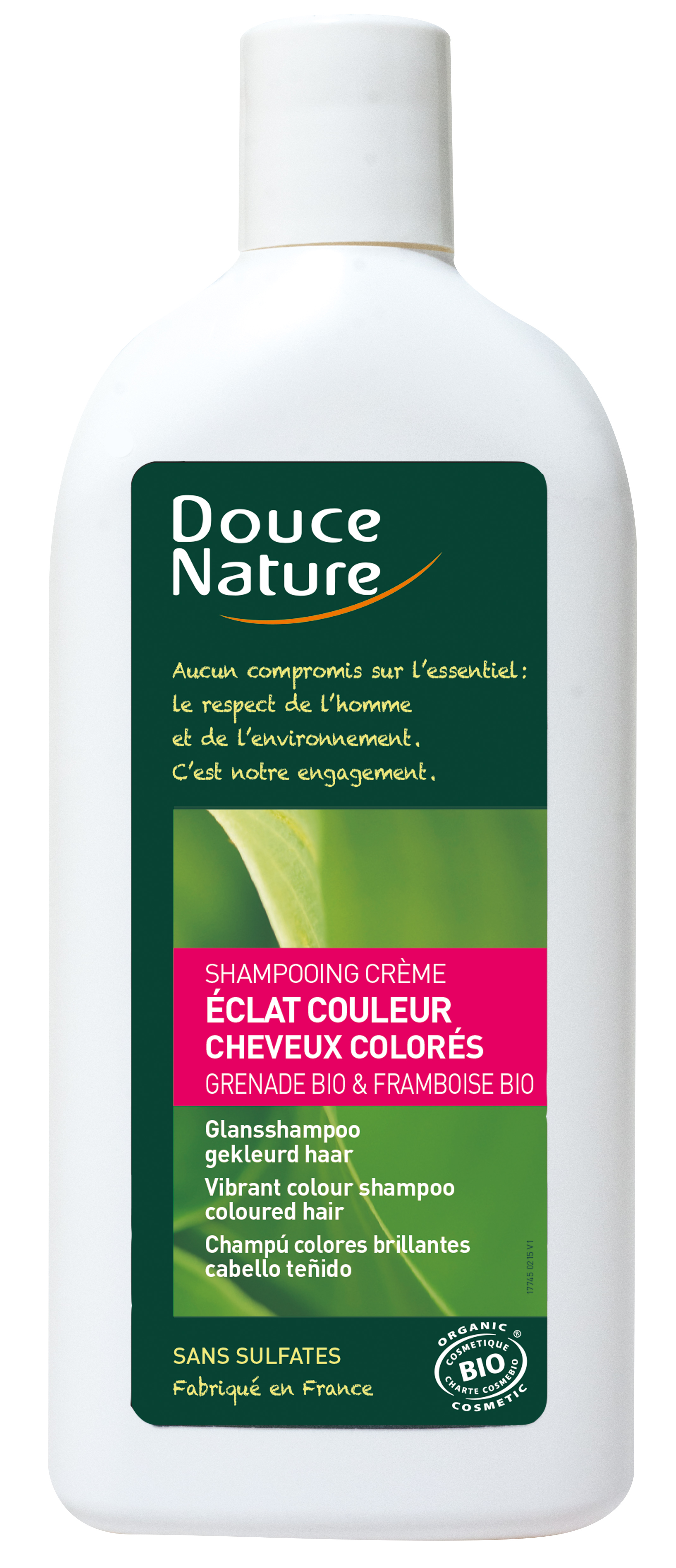 Shampooing éclat couleur cheveux colorés, Douce Nature (300 ml)