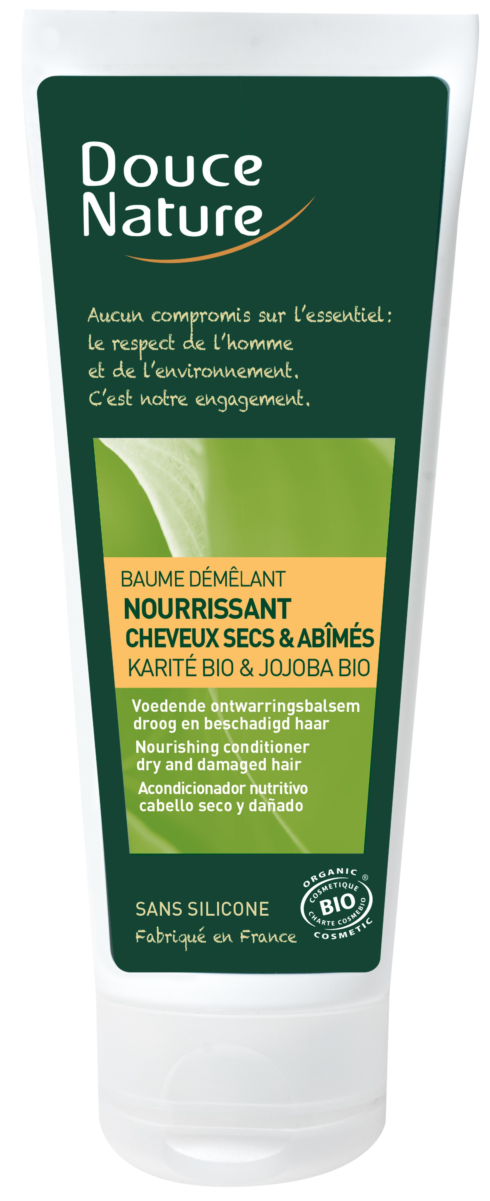 Baume démêlant nourrissant cheveux secs et abimés, Douce Nature (200 ml)