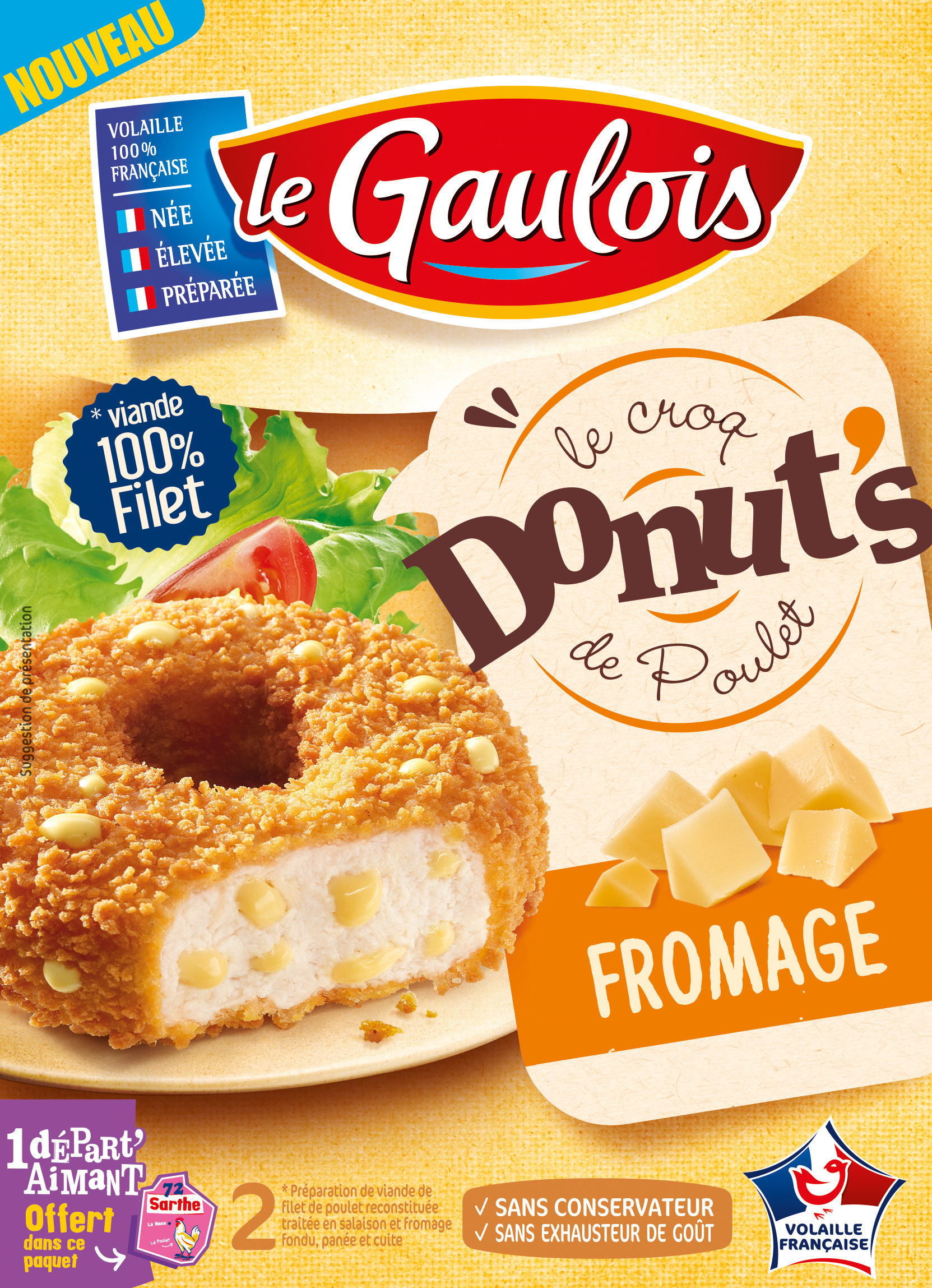 Donuts Poulet Fromage, Le Gaulois (2 x 100 g)