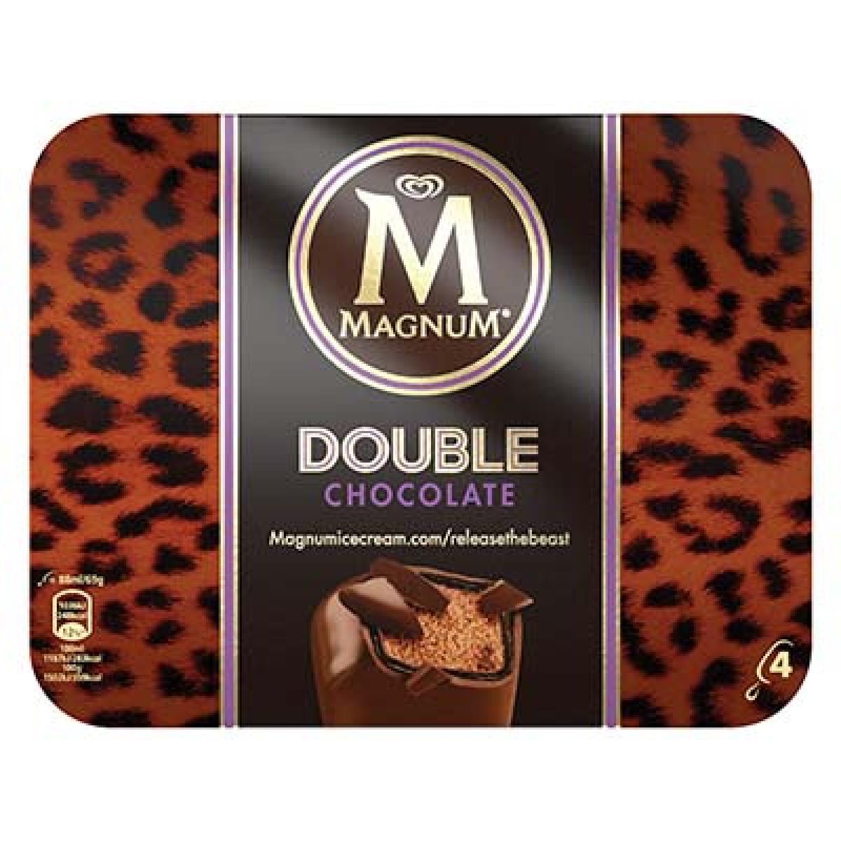 Magnum Double Chocolat, Miko (x 4)