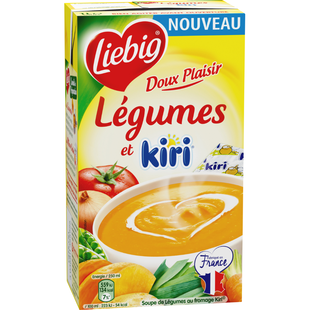 Doux plaisirs légumes et kiri, Liebig (1 L)