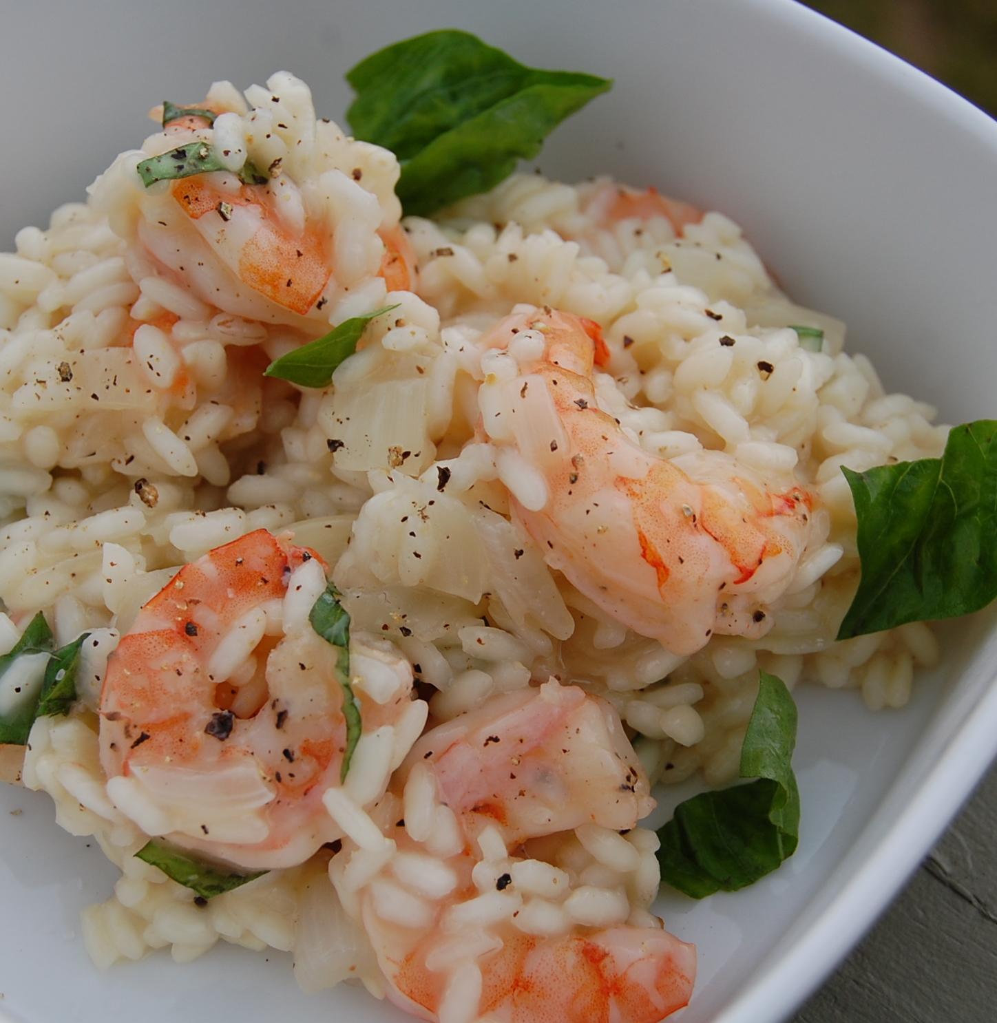 Kit risotto crémeux aux crevettes, basilic et parmesan