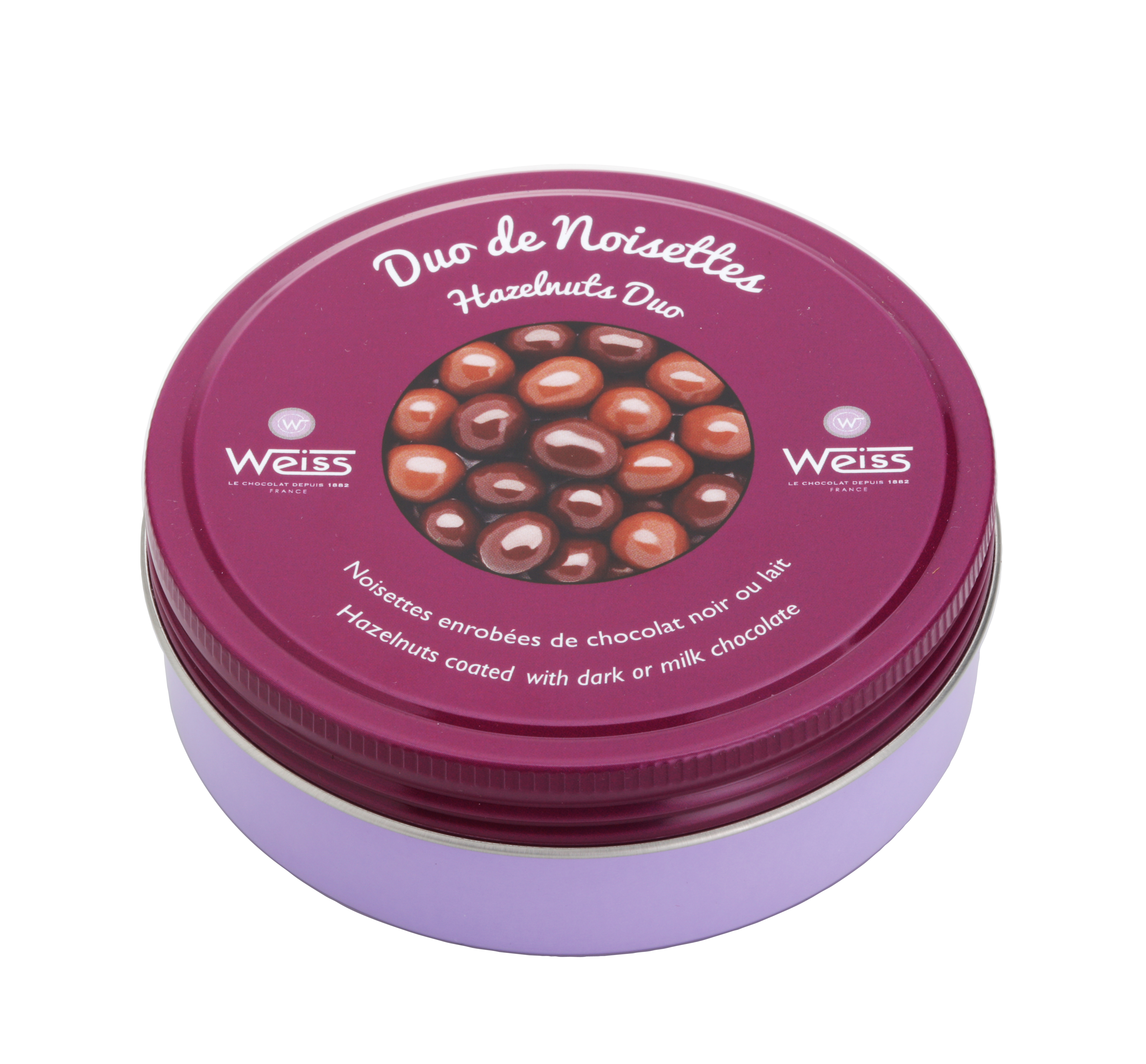 Duo de noisettes chocolat noir et au lait, Weiss (75 g)