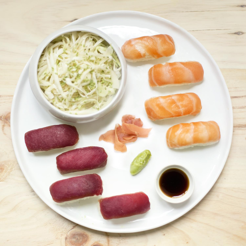 Duo de sushi saumon/thon (8 sushis, 360 g)