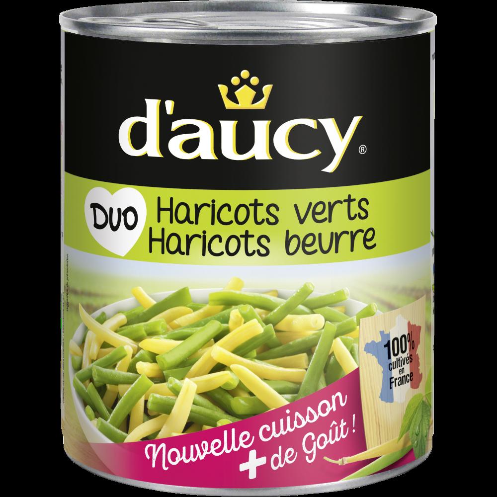 Haricots verts et haricots beurre, D'aucy (455 g)