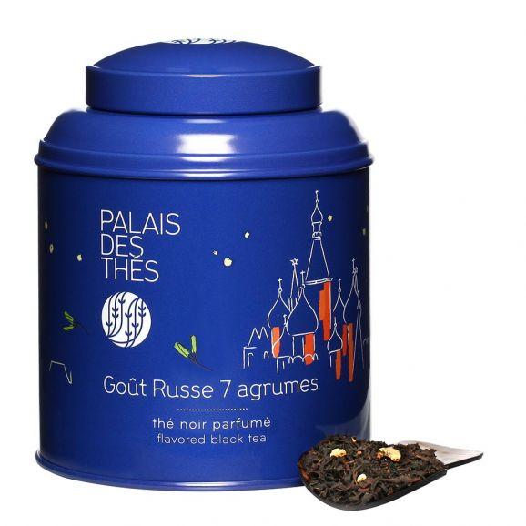 Thé noir russe 7 agrumes - boîte colorée, Palais des Thés (100 g)