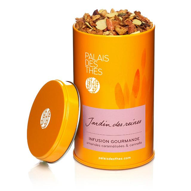 Infusion gourmande amandes caramélisées & cannelle Jardin des reines, Palais des Thés (150 g)