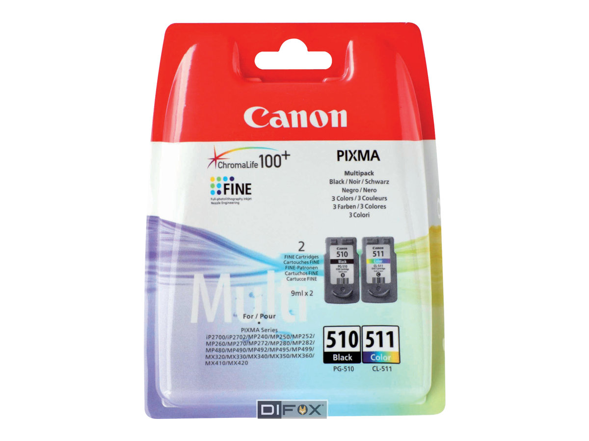 Cartouche Canon PG510 CL 511  Multi pack