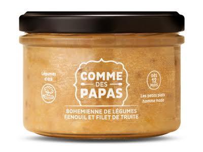 Bohémienne de légumes, fenouil et filet de truite BIO - 12 mois Comme des Papas (200 g)