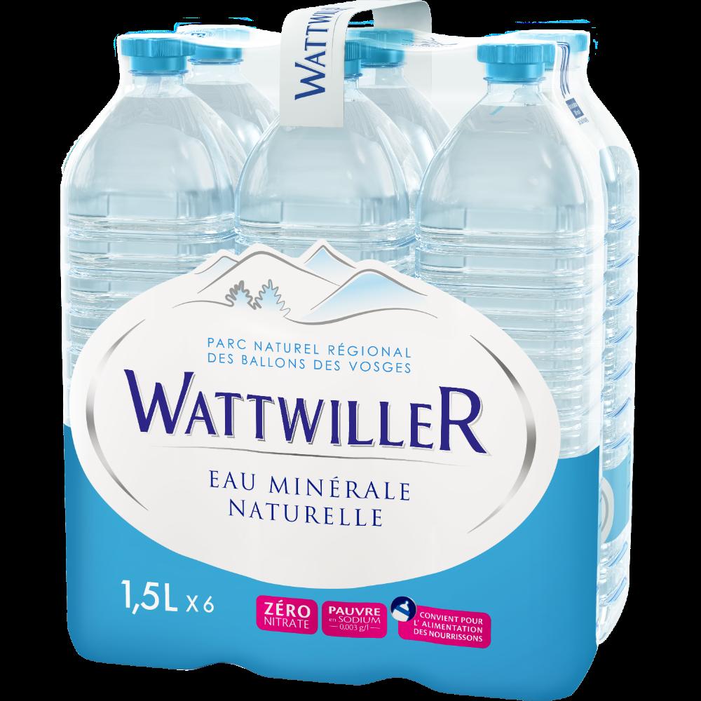 Eau minérale naturelle Wattwiller (6 x 1,5 L)