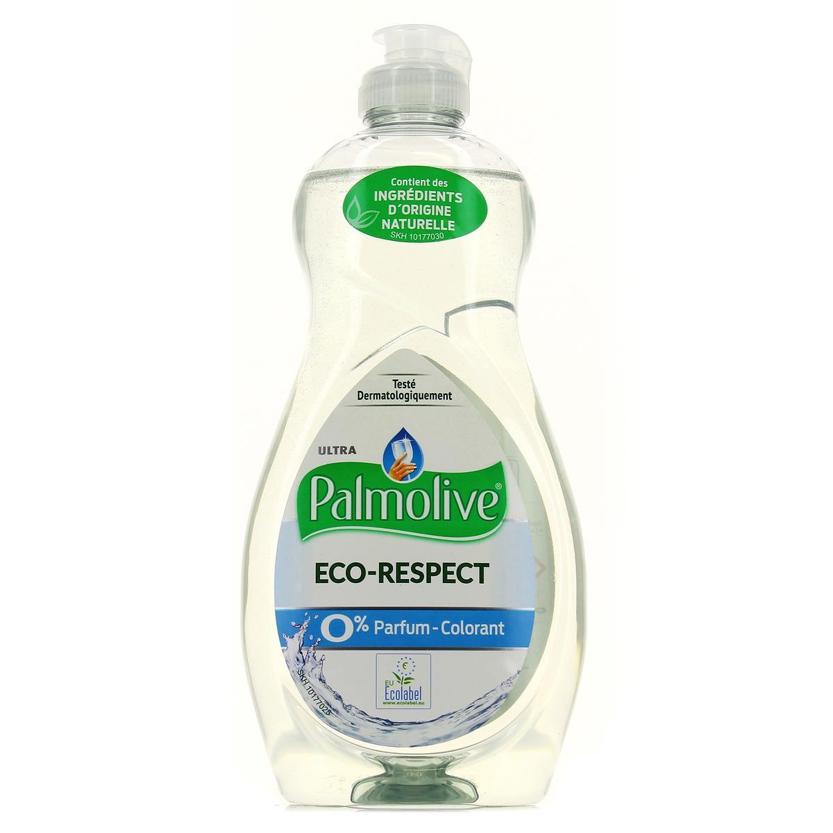 Liquide vaisselle éco respect 0%, Palmolive (500 ml)
