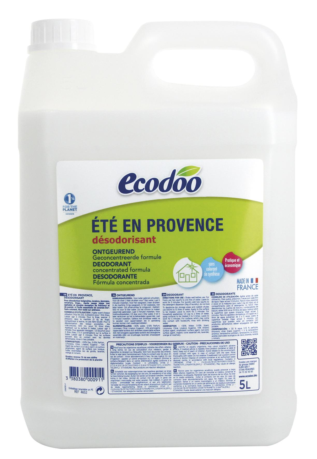 Recharge pour désodorisant Un été en Provence, Ecodoo (5 l)