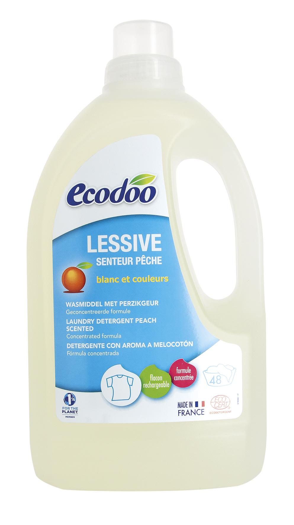 Lessive concentrée senteur pêche, Ecodoo (1.5 l)