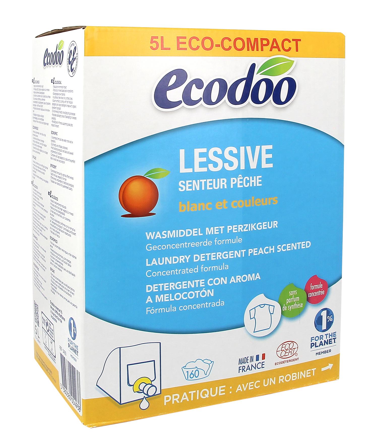 Lessive liquide senteur pêche, Ecodoo (BIB - 5 l)