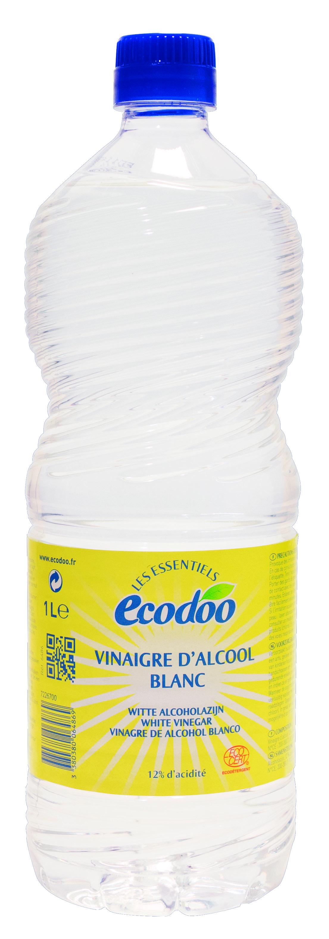 Vinaigre d'alcool blanc 12%, Ecodoo (1 L)