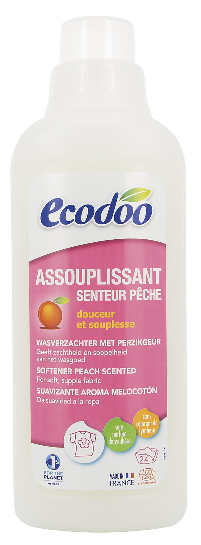 Assouplissant senteur pêche, Ecodoo (750 ml)