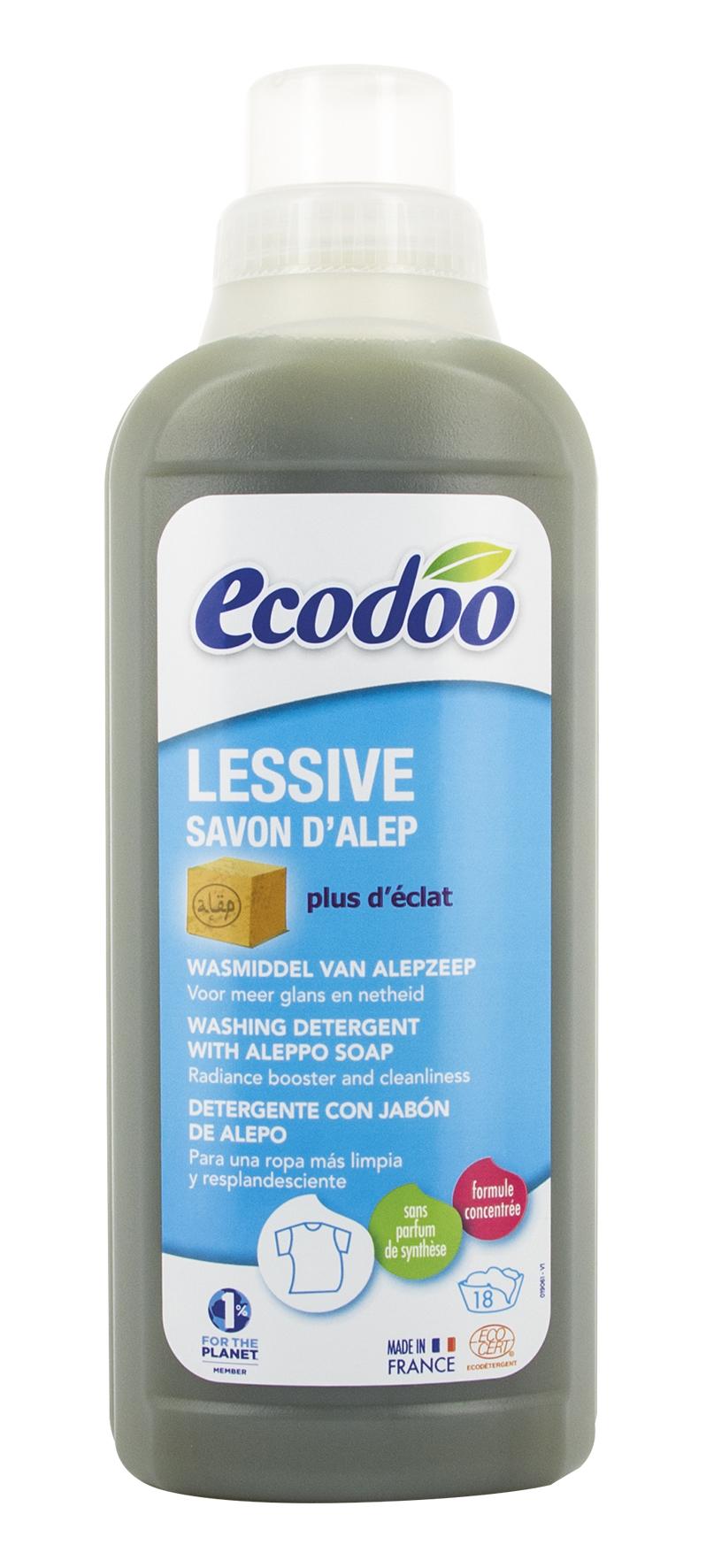Lessive liquide au savon d'Alep, Ecodoo (750 ml)