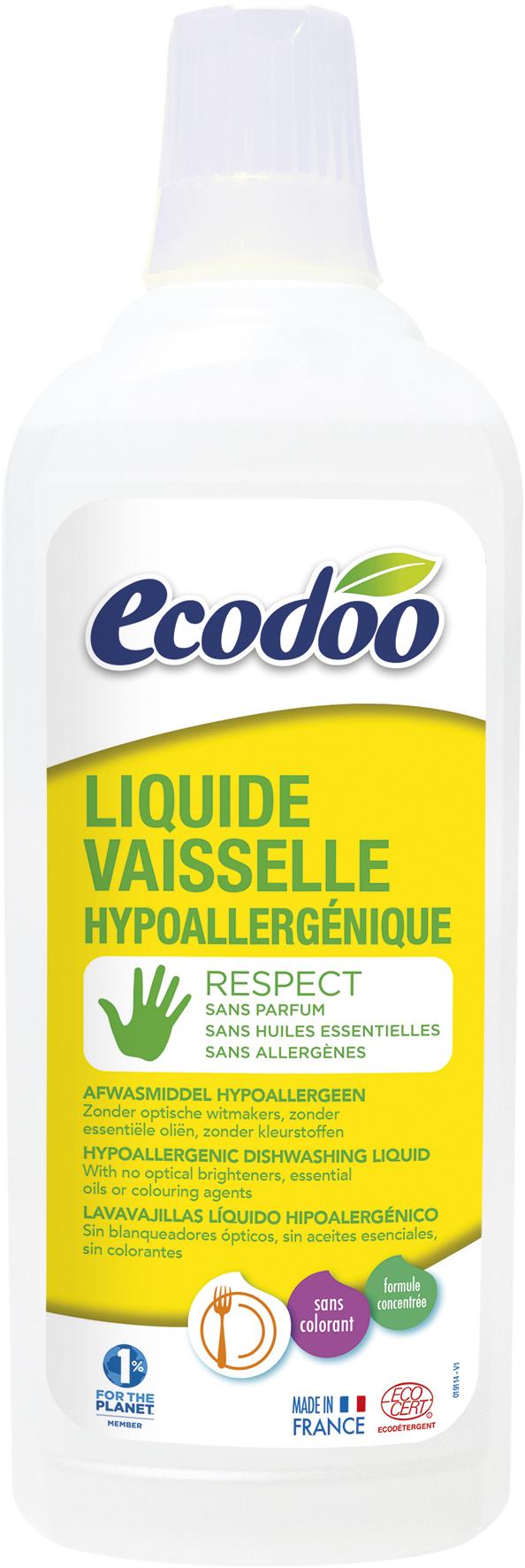 Liquide vaisselle hypoallergénique, Ecodoo (750 ml)