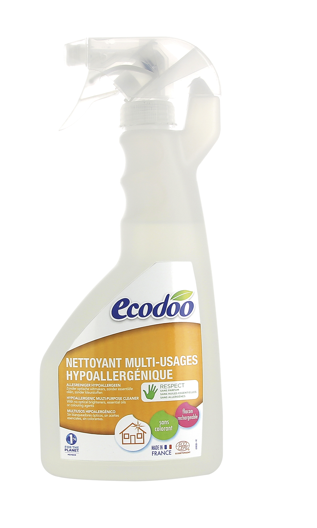 Nettoyant hypoallergénique multi-usages, Ecodoo (500 ml)