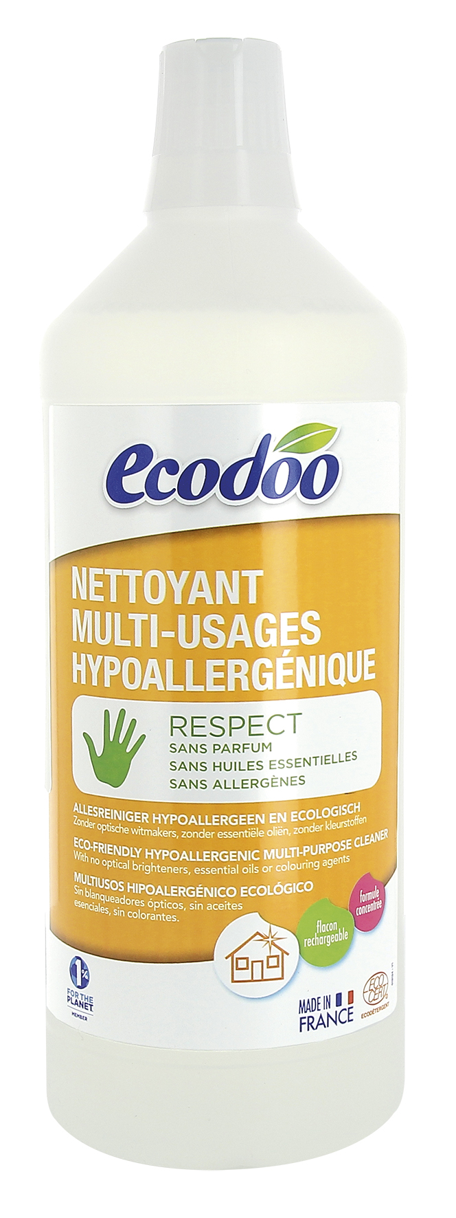 Nettoyant hypoallergénique multi-usages, Ecodoo (1 L)