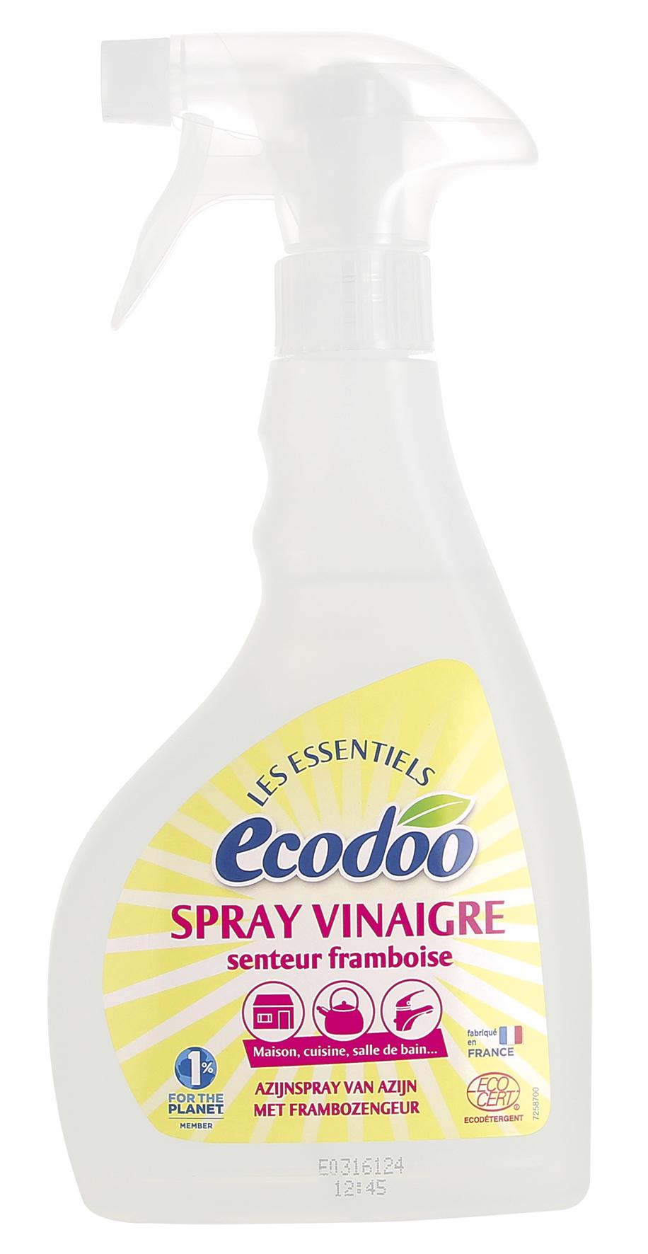 Nettoyant au vinaigre de framboise en spray, Ecodoo (500 ml)