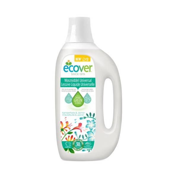 Lessive liquide universelle Hibiscus et Jasmin, Ecover (30 lavages, 1,5 L)