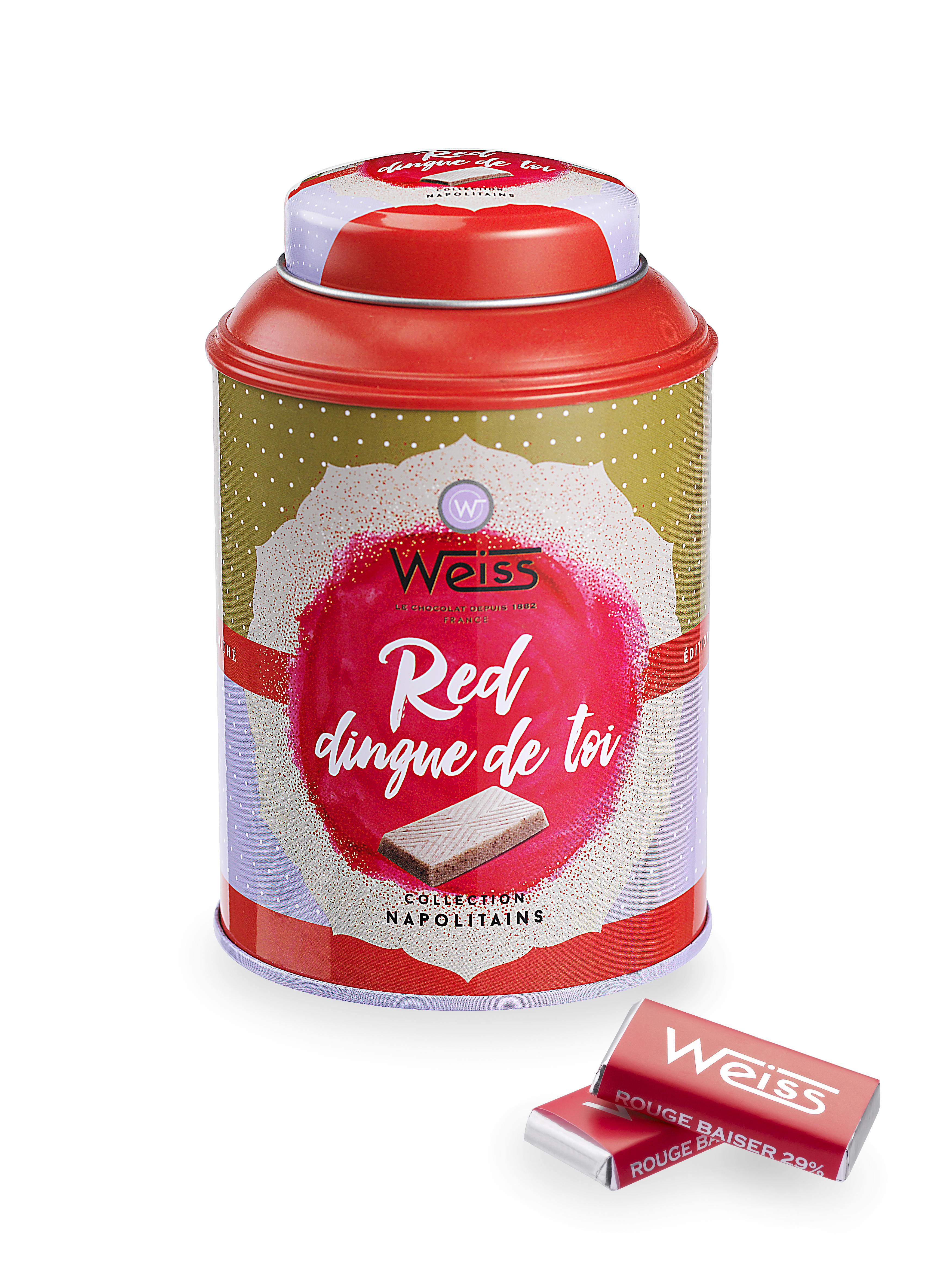 Edition Limi-Thé Napolitains Rouge Baiser 29%, Weiss (180 g)