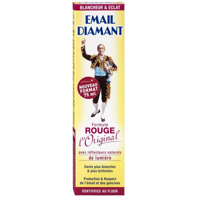 Dentifrice Email Diamant Rouge (75 ml)