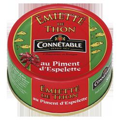 Emietté de thon au piment d'Espelette, Connetable (80 g)