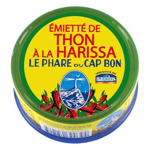 Emietté de thon à l'harissa Cap Bon, Nautilus (162 g)