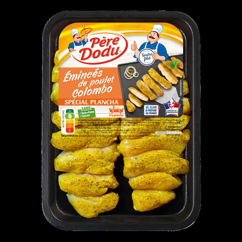 Emincé de poulet façon colombo, Père Dodu (300 g)