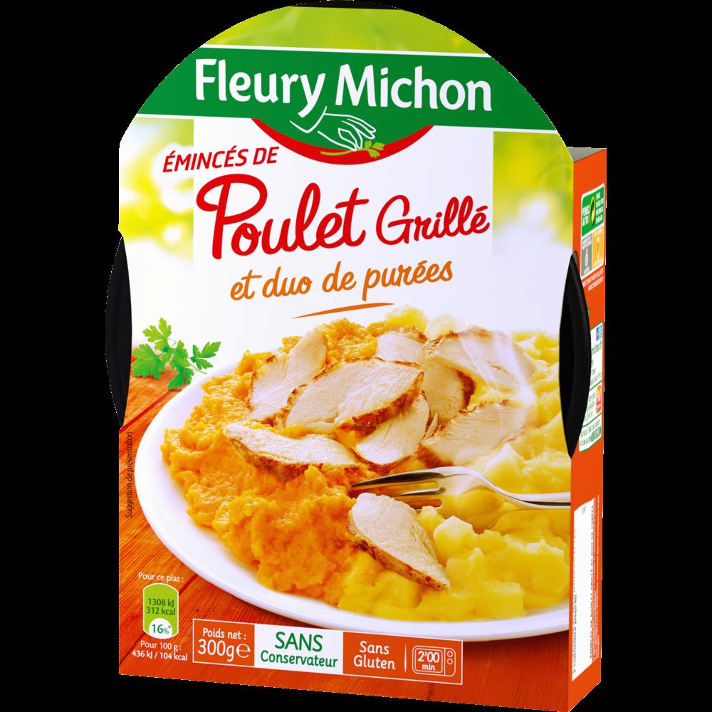 Emincés de poulet grillé et duo de purées, Fleury Michon (300 g)