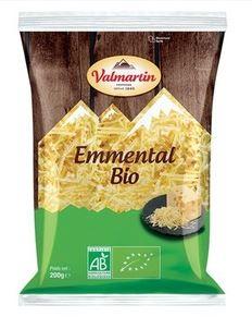 Emmental râpé BIO, Valmartin (200 g)